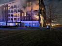 Brand in wooncomplex aan Stadshagen in Delden.