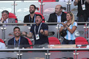 Diego op het WK van 2018, geflankeerd door Ronaldo en zijn toenmalige vriendin Rocio Oliva.