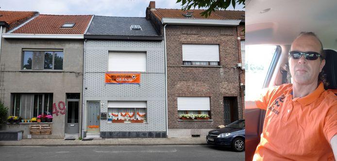 De woning van Johan Nys (aparte foto) in de Diepestraat maakt het duidelijk: hier woont een Oranjesupporter.