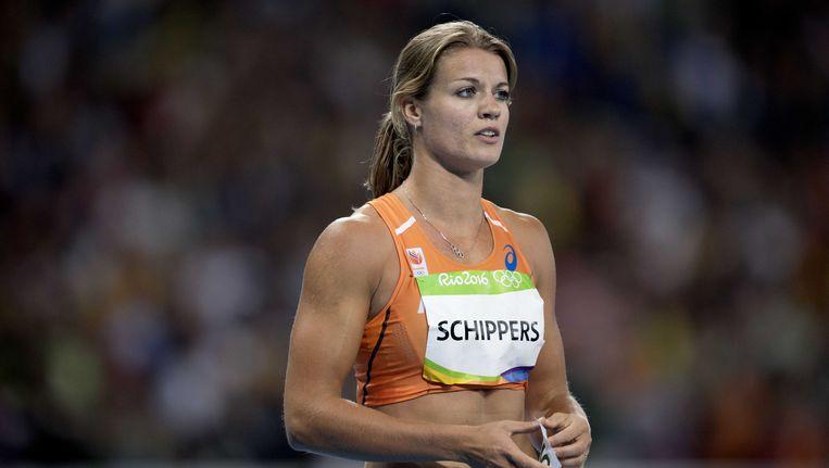 Dafne Schippers eindigt als vijfde op de 100 meter. Beeld anp