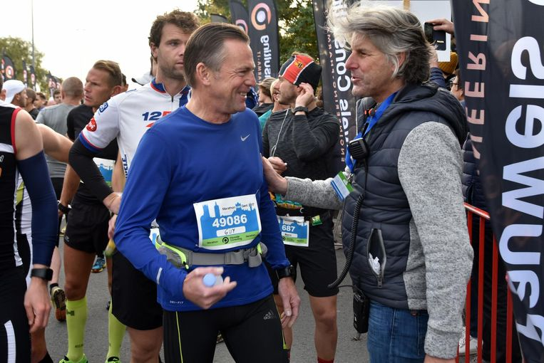Guy Reynebeau en 'marathonman' Stefaan Engels.