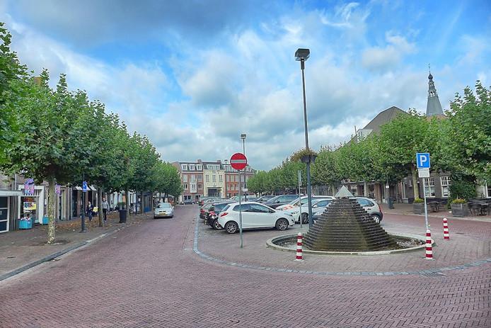 De fontein op de Boxtelse Markt.