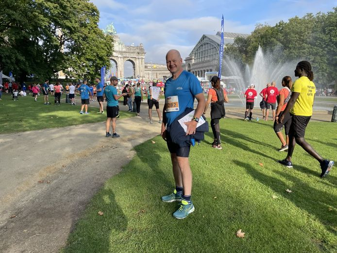 François Thoumsin uit Luik nam zondag al voor de derde keer deel aan de 20 kilometer door Brussel.