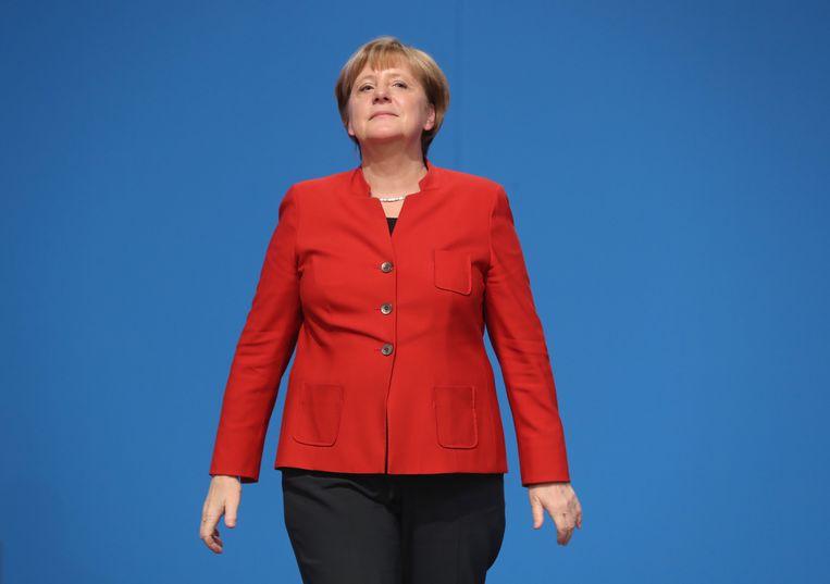 Merkel is thuis in deze materie en dat schept vertrouwen.  Beeld Sean Gallup / Getty