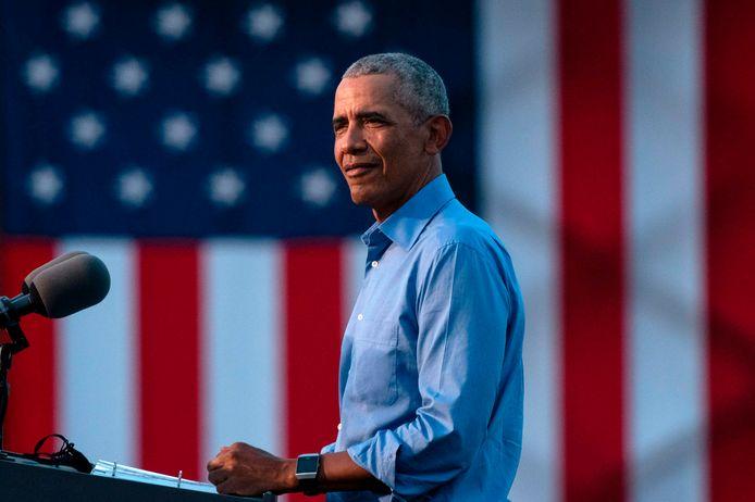 De Amerikaanse oud-president Barack Obama.