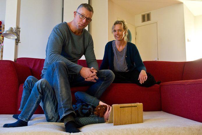 Annemarie Haverkamp thuis met haar gezin