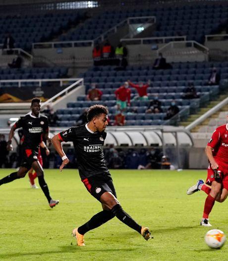 Malen bezorgt PSV diep in blessuretijd zwaarbevochten zege op Cyprus