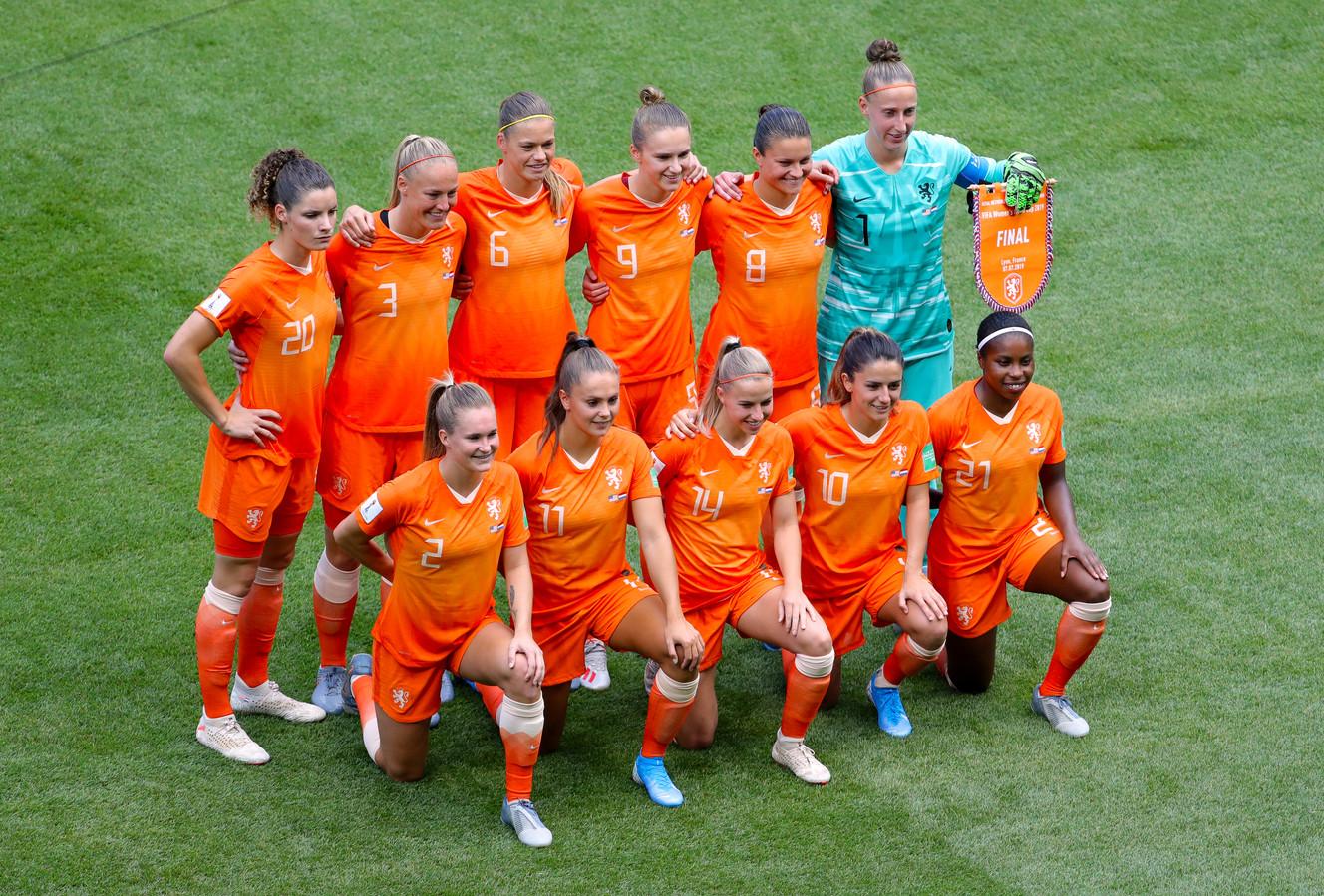 Oranje voor de WK-finale tegen de VS.