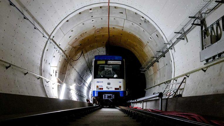 De ondergrondse tunnel van de Noord-Zuidlijn. Beeld anp