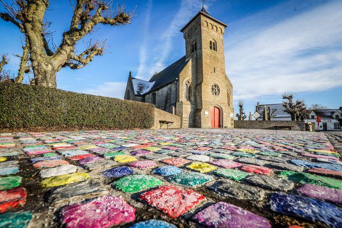 Route d'amour: kerk Booitshoeke.