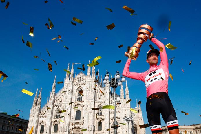 Tom Dumoulin schittert in Milaan.