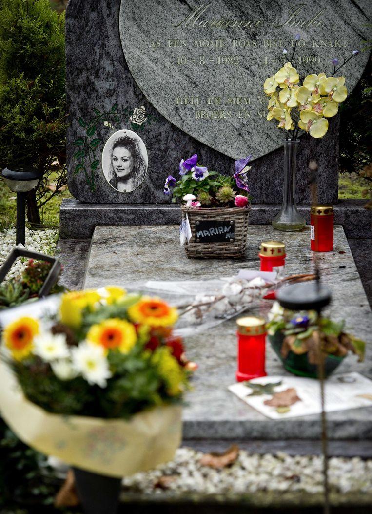 Het graf van Marianne Vaatstra. Beeld EPA