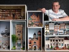 Jan maakt 'zijn' Den Bosch in miniatuur, van het Stadhuis tot de Moriaan en de Paternoster