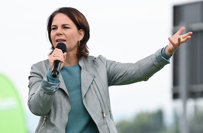 Annalena Baerbock, kandidate van de Groenen.