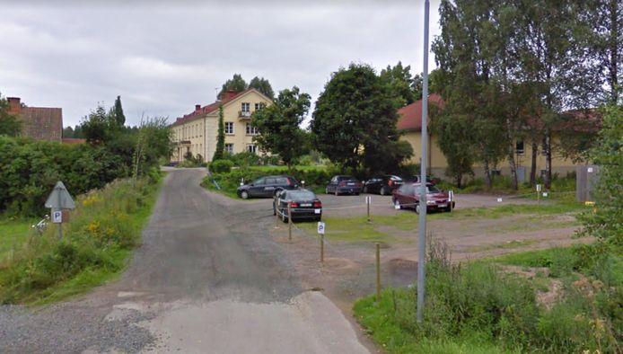 Het festivalcentrum in het dorp Molkom in Värmland.