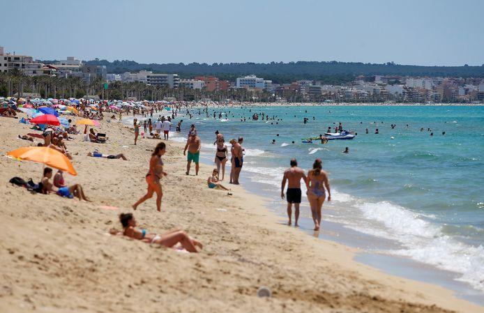 Playa de Palma op Mallorca.