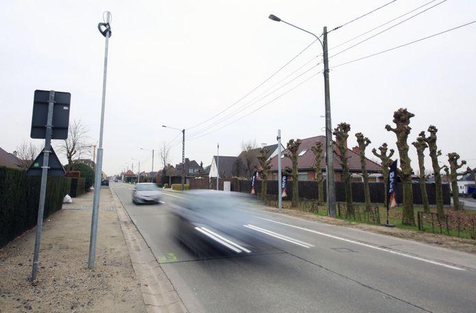Trajectcontrole in de Desselgemseweg in Waregem.