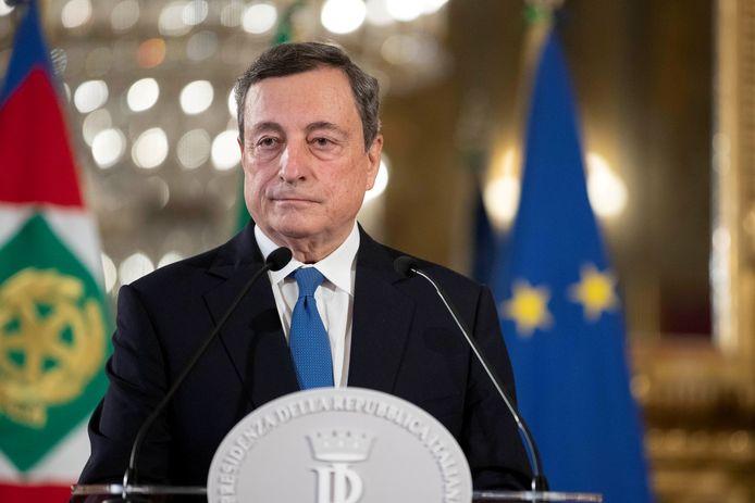 Mario Draghi, de voormalige baas van de Europese Centrale Bank.