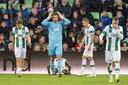 Teleurstelling bij de spelers van FC Groningen.