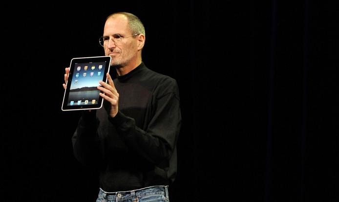 In 2010 stelde Steve Jobs het eerste model iPad voor aan de wereldpers.