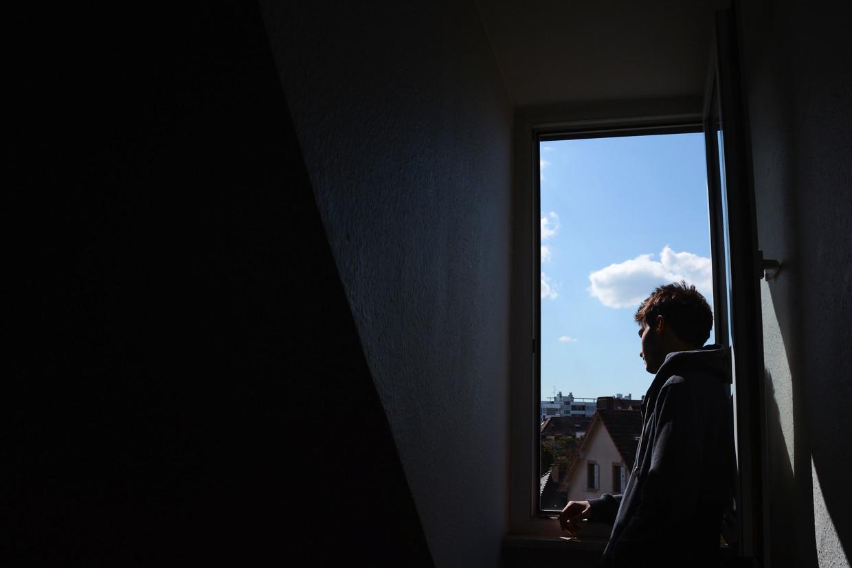 Een student zonder balkon. Beeld BELGAIMAGE