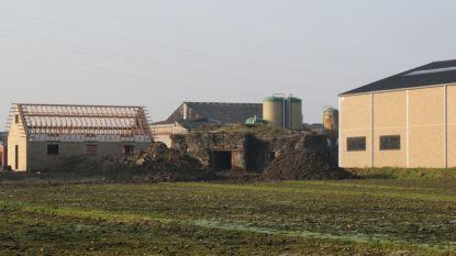 Bunker tussen nieuwbouw