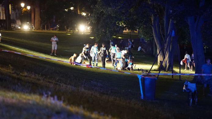 Politie-onderzoek na de steekpartij op de Kapjeswelle.