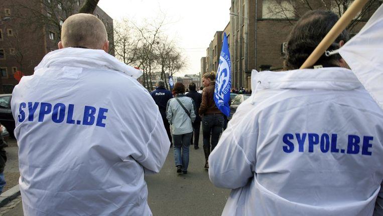Leden van de politievakbond Sypol.