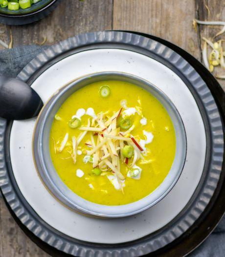 Wat Eten We Vandaag: Romige kerriesoep met kalkoen en appel