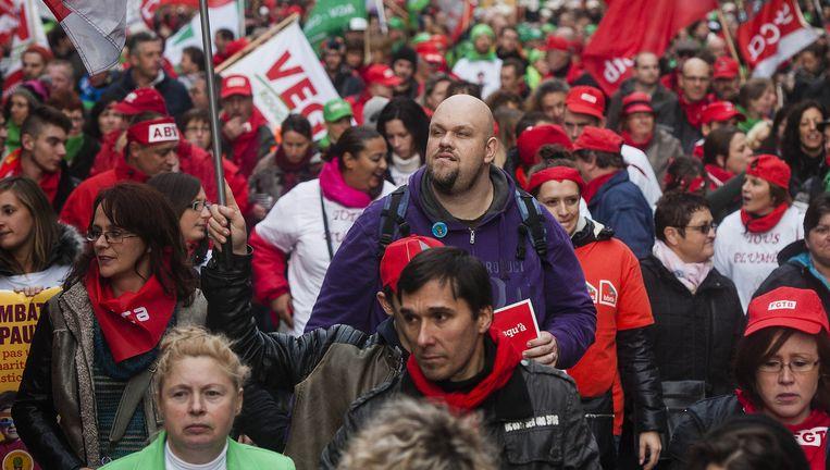 De onvrede van de middenklasse werd duidelijk tijdens de betoging tegen Michel I. Beeld Eric De Mildt