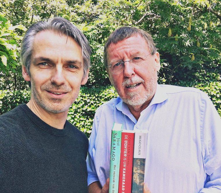 De drie boeken van Siegfried Bracke. Beeld Wim Oosterlinck