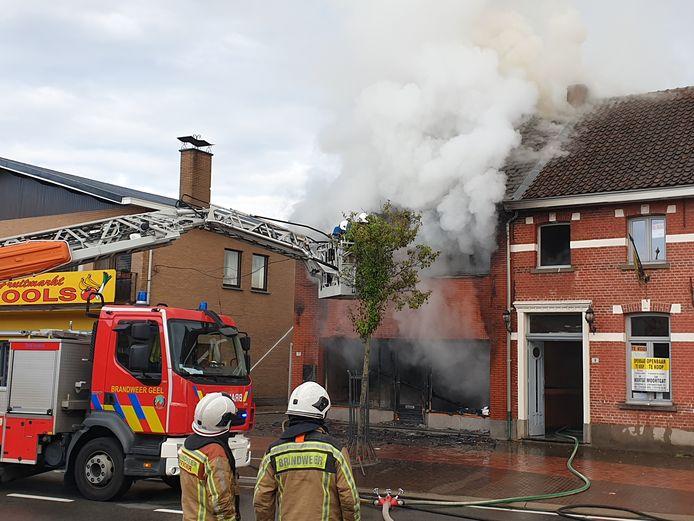 De brand aan Dorp in Herselt.
