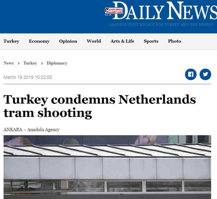 De website van The Hürriyet Daily News.