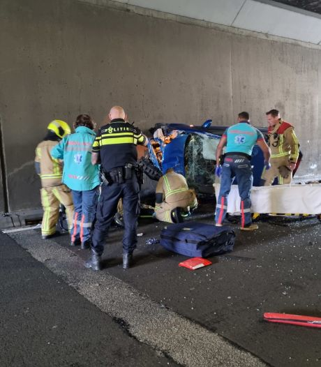 Dode na ongeval in tunnel op Zoetermeerse Europaweg