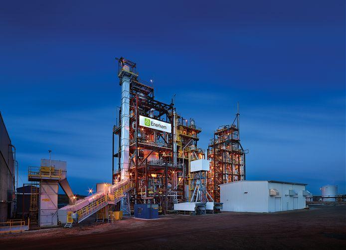Enerkem-fabriek in Canada. De Rotterdamse haven moet een vergelijkbaar bedrijf krijgen.