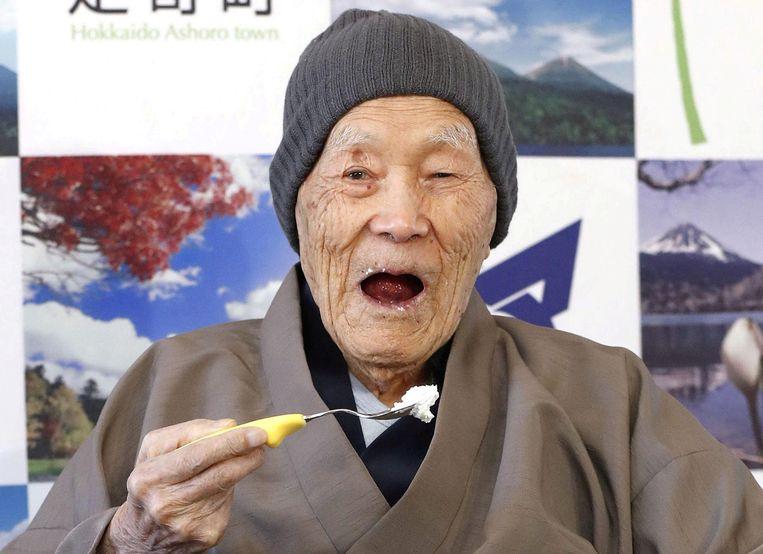 Masazo Nonaka (113) werd eerder dit jaar officieel de oudste man ter wereld.