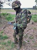 Derk Boswijk op militaire training.