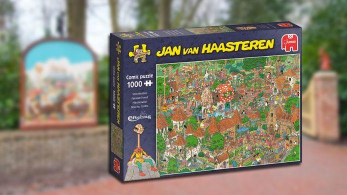 Jan van Haasteren maakt puzzel van het Sprookjesbos.