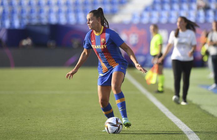 Lieke Martens in actie in de Spaanse bekerfinale.