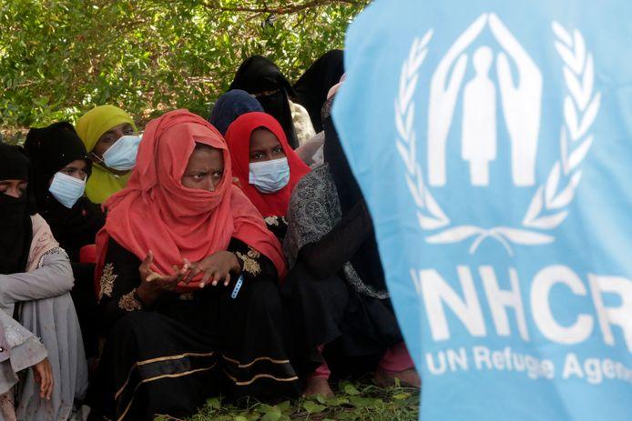 Rohingya-vluchtelingen worden opgevangen in Indonesië.