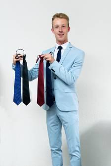 Richard (19) verkoopt voorgeknoopte dassen: 'Een stropdas maakt een outfit helemaal af'
