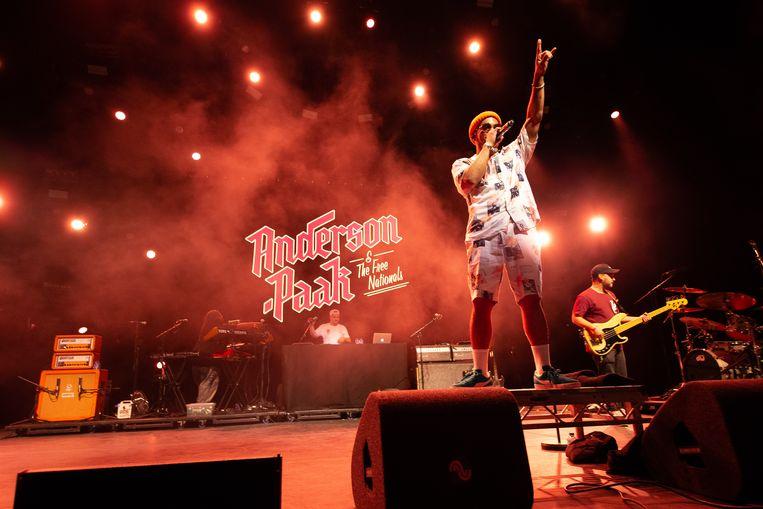 Anderson. Paak & The Free Nationals op het North Sea Jazz Festival in Rotterdam [fotocredit Harold Versteeg   Hollandse Hoogte] Beeld Hollandse Hoogte / Harold Versteeg