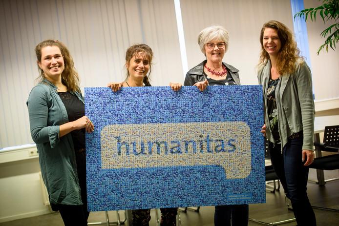 Van links naar rechts: Nienke van der Aa, Eveline Monteiro, Wilmi Hendrix en Marisse Cardol.