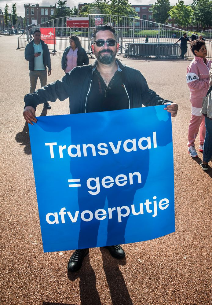 Protest voor een schoon Transvaal.