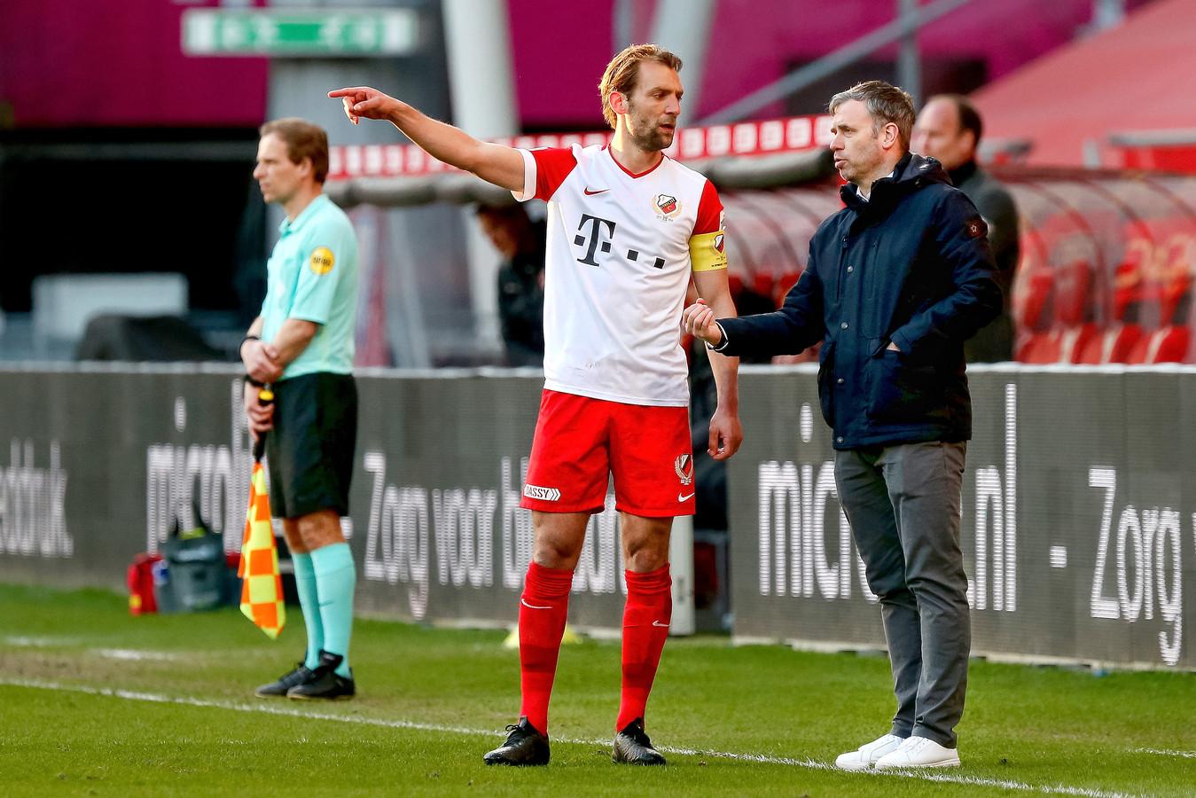 Willem Janssen en René Hake van FC Utrecht