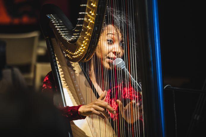 Zem bracht een nummer op de harp, over de de straten van hoop.