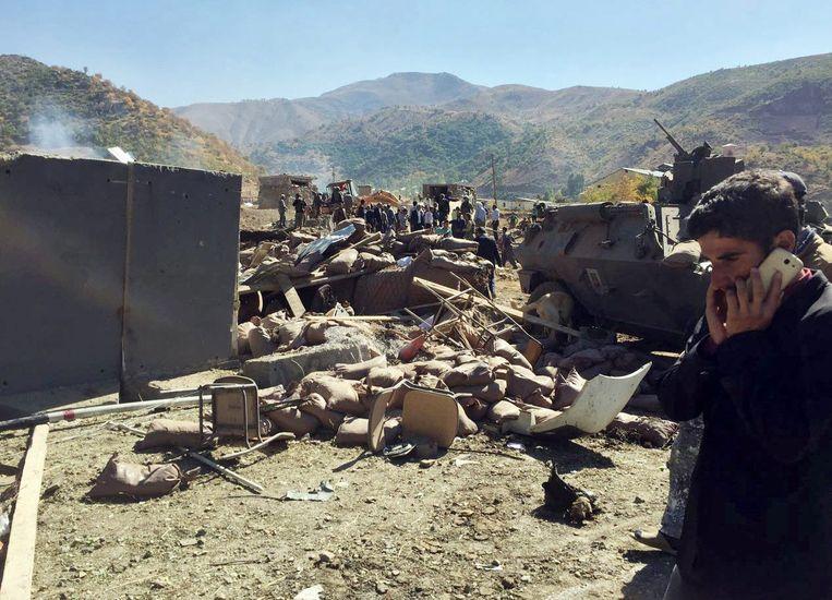 De explosie vond plaats in het munitiedepot in Hakkari, aan de grens met Irak en Iran.