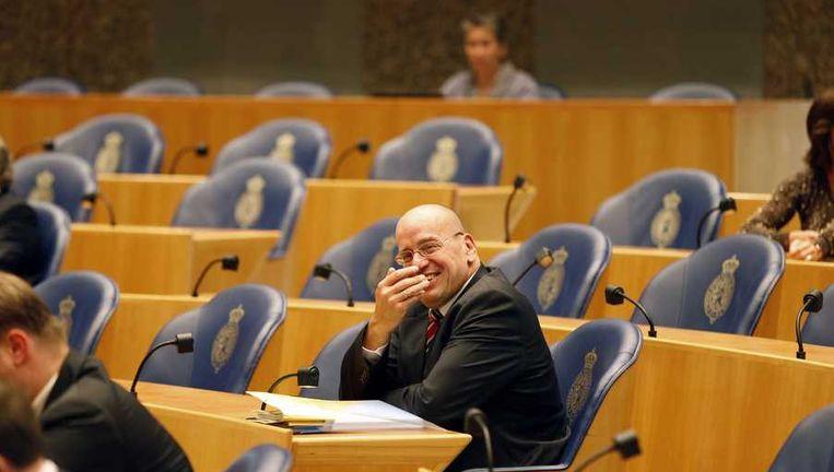 Teeven gisteren tijdens het vragenuurtje in de Tweede Kamer. Beeld anp