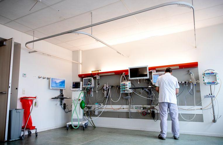Een extra ic-kamer in het Tergooi ziekenhuis. Beeld ANP