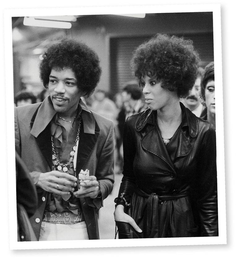Devon Wilson, de bekoorlijke, lichtgetinte Afro-Amerikaanse die Jimi had leren kennen in Los Angeles. Ze ontwikkelde zich snel van een gewone groupie tot persoonlijke drugsleverancier. Beeld
